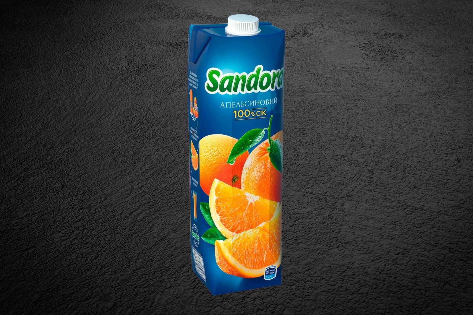 Сок «Sandora» в ассортименте 1л.